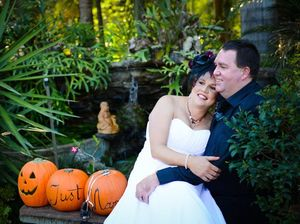 Couple vows to have and to haunt at Halloween wedding
