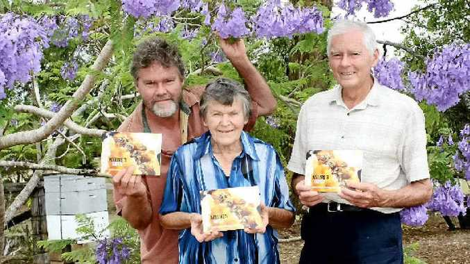 THE TEAM: Writers and designers of Nature's Gifts (from left) Glen Craig, Skaidra and Athol Craig.