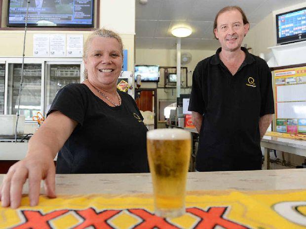 Australian Hotel bar staff Jasmyn de Vree and Yuri Koovshinoff say The Aussie is a great place to drink.