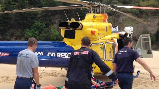 A woman, 52, is airlifted after being stung off Percy Island.