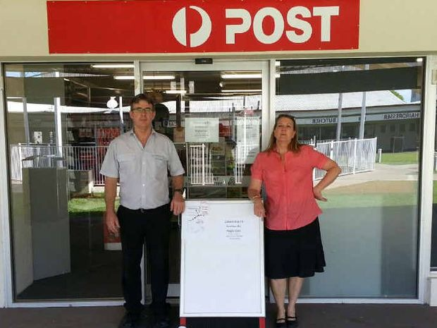 EVICTED: Chris Griffiths and Louise Hawkins have been evicted from their Middlemount PO by Anglo Coal.