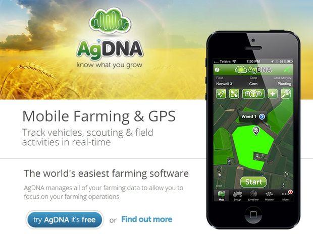 A screen grab of the AgDNA website.