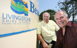 Would-be councillor Paul Lancaster with Cr Bill Ludwig, who is running for mayor.