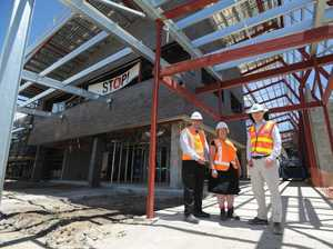 Out-of-town hospital construction workers may move here
