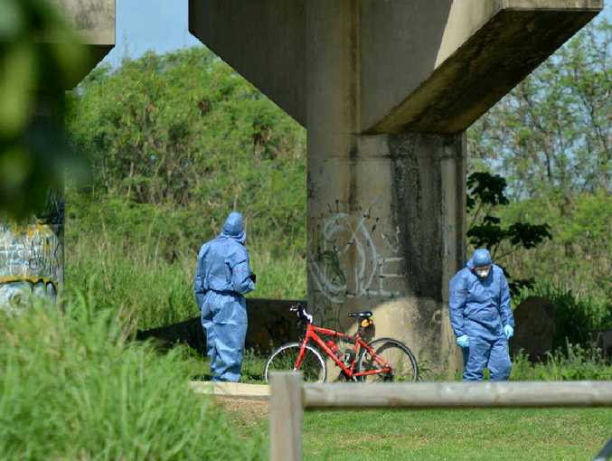 Scenes of crime officers investigate the death of David Bow.