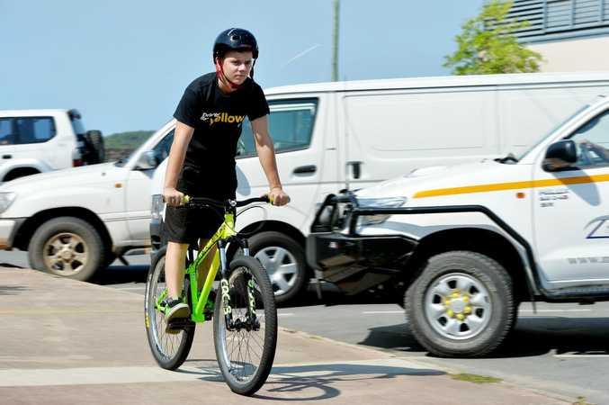 Cameron Tortora from Bicycle Connection Mackay Photo Tony Martin / Daily Mercury