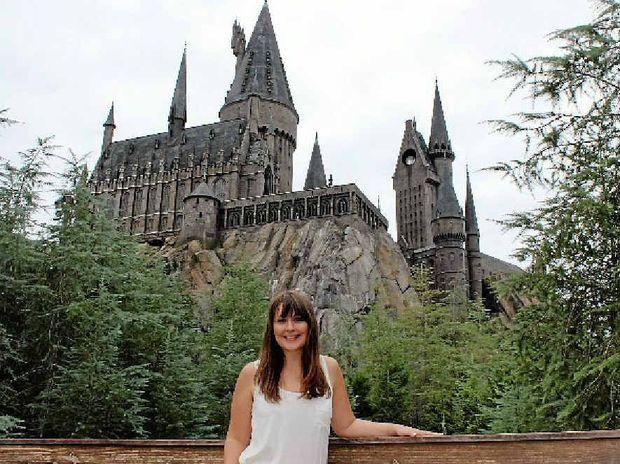 MUGGLE MAGIC: Vanessa checks out the Hogwarts Castle.