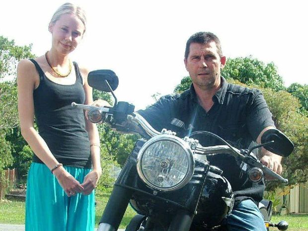CHARITY RIDE: Organiser Marc Revere and Lucy McGrail.