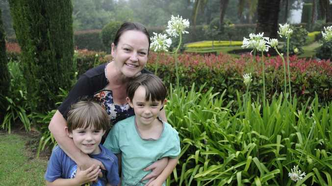 Owner Lisa Withers and two of her children Edward, (left) 5 years old and Toby, 6 years.