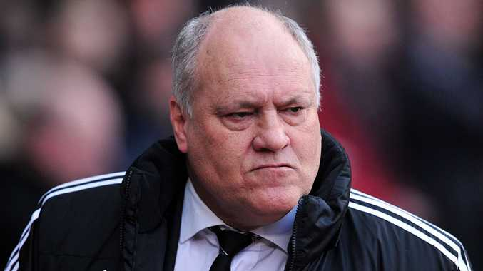 Fulham's Dutch manager Martin Jol looks on before the English Premier League football match between West Ham United and Fulham at Upton Park in London on November 30, 2013. West Ham won 3-0.