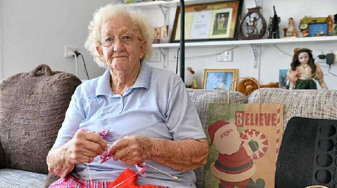 WONDERFUL EFFORT: Thelma Hawkins has been buying gifts every fortnight this year to donate to the needy.
