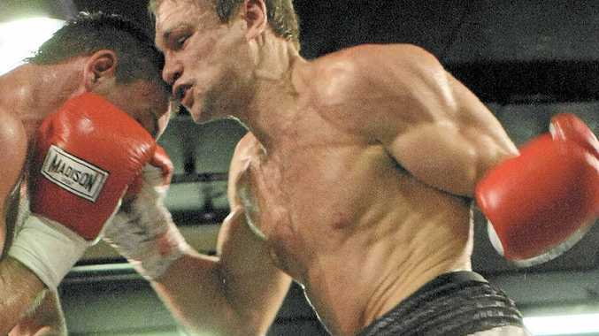 COMEBACK: Phil Maley, right, will fight on the Gold Coast tonight for the Queensland light-heavyweight title.
