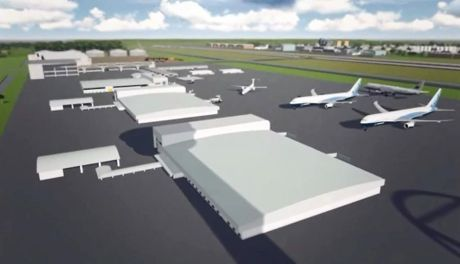 Artist's impression of Wagners' Wellcamp Airport from promotional video. Photo Contributed
