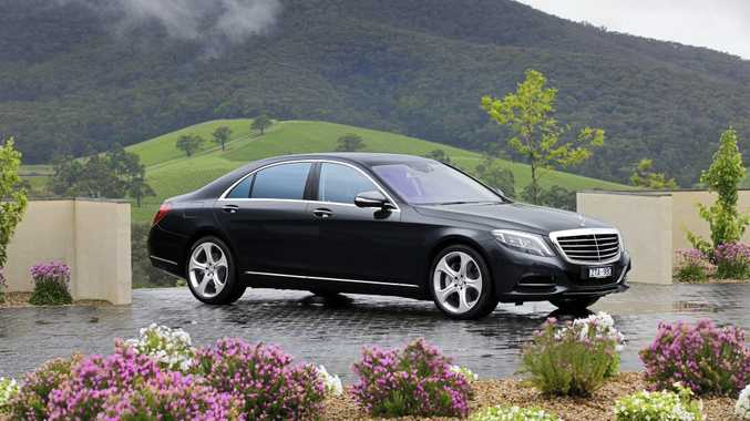 The Mercedes-Benz S500.