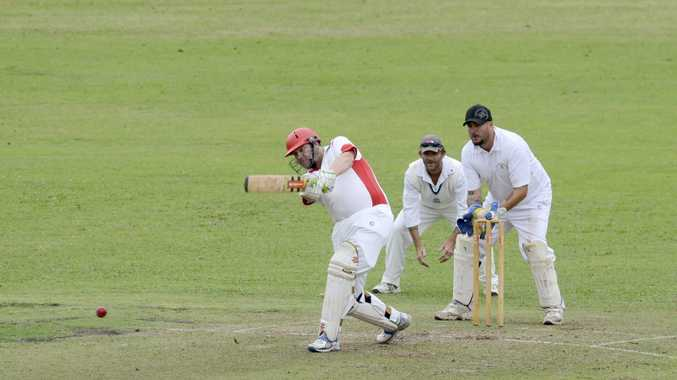 DONE: Jason Thompson holes out to Brendan Cotten during Souths' second innings. Westlawn won by nine wickets. Photo Debrah Novak / The Daily Examiner