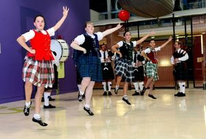Rockhampton Academy of Highland Dancing performing at the afternoon of Scottish fun and trivia at Rockhampton Regional Library. Photo Sharyn O'Neill / The Morning Bulletin