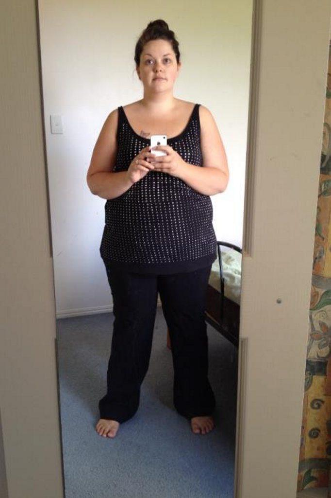 Tara Easterman before her weight loss.