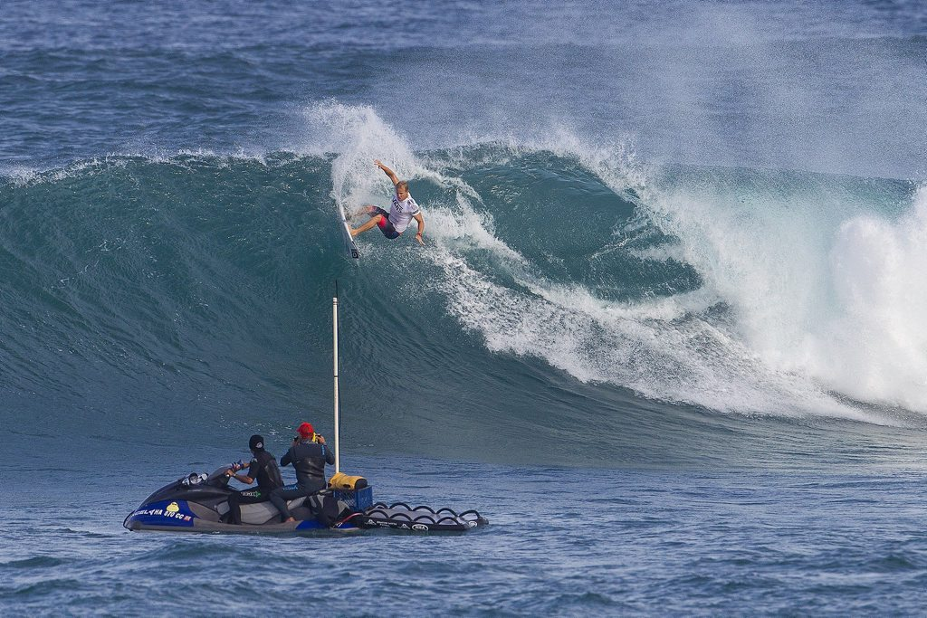 Defending Champion Adam Melling of Lennox Head, NSW, Australia (pictured) earned a well deserved Round of 64 victory advancing into the Round of 32 at the Vans World Cup of Surfing at Sunset Beach in Oahu, Hawaii on Saturday November 30, 2013.