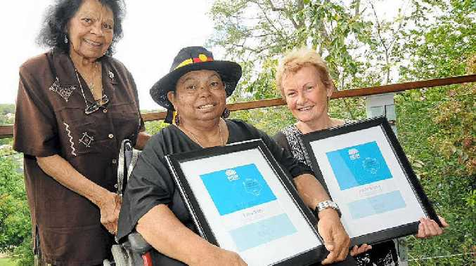 HONOURED: Muriel Burns, of Maclean, Patsy Nagus, of Kyogle, and Mollie Strong, of Byron Bay, were included on the NSW Hidden Treasures Honour Roll at the University Centre for Rural Health in Lismore yesterday.