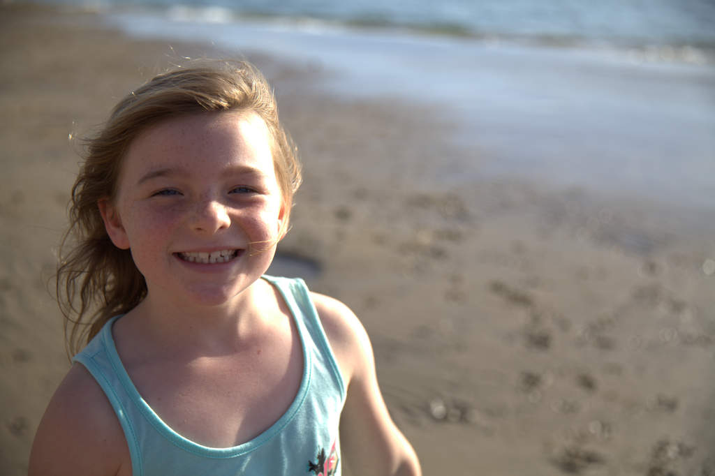 Ruby Fletcher, now 7, narrowly escaped drowning in  a swimming pool when she was 13 months old.