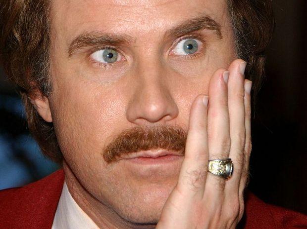 Will Ferrell as Ron Burgundy.