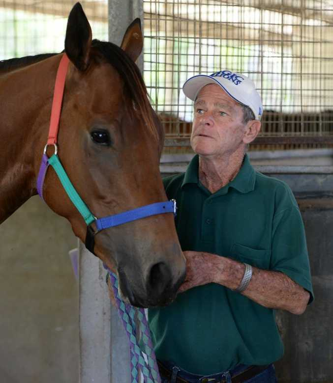 Lyle Rowe with Mythologist at Callaghan Park. Photo: Chris Ison / The Morning Bulletin