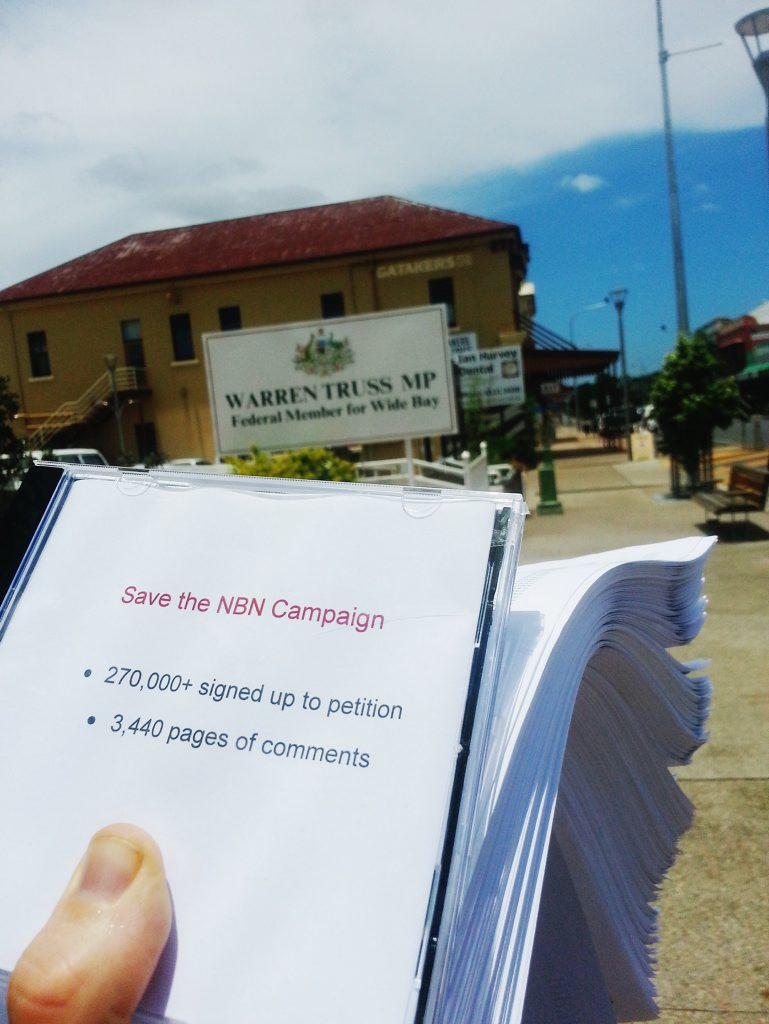 The National Broadband Network petition garnered more than 270000 signatures from across the Country.