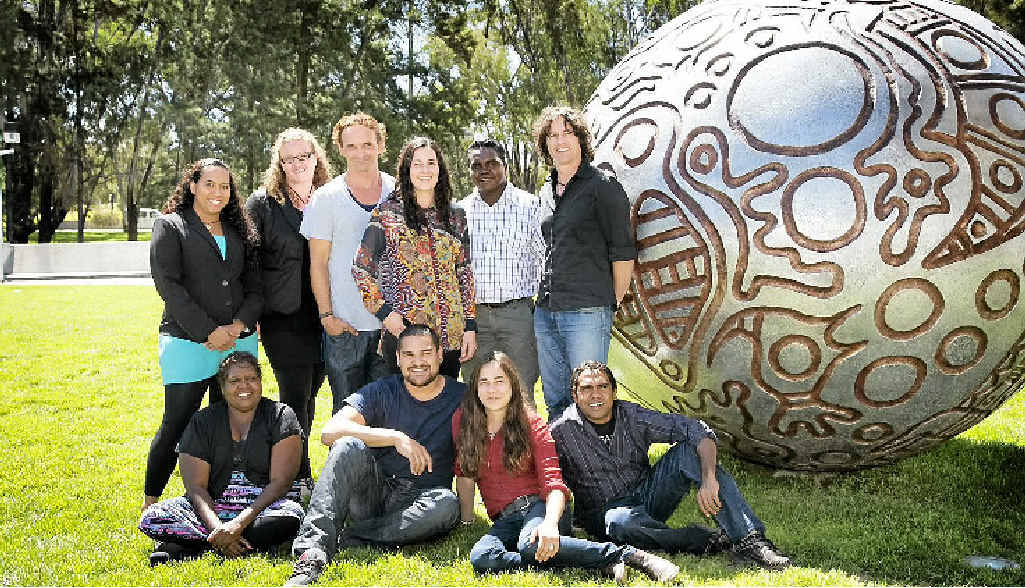 LEARNING EXPERIENCE: Participants in the Wesfarmers Arts Indigenous Leadership Program, including Byron Bay's Anthony Walker, at the National Gallery.