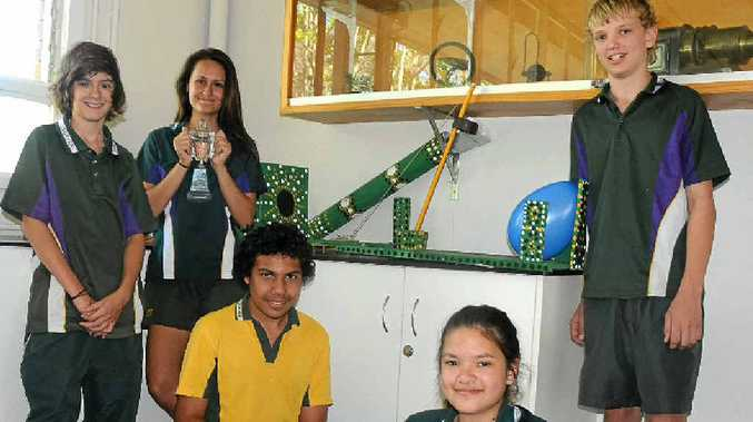 UP TO THE CHALLENGE: Lockyer High's winning team Dominic Smith, Mikayla Shae, Nathan Waind-Chilly, Mackenzie Lee and Hayden Harding.