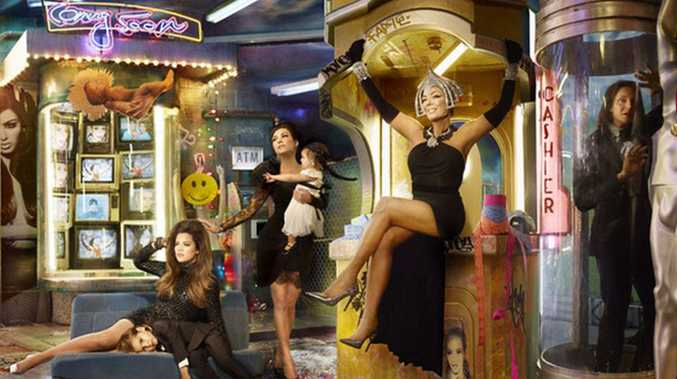 David LaChapelle's Kardashians card