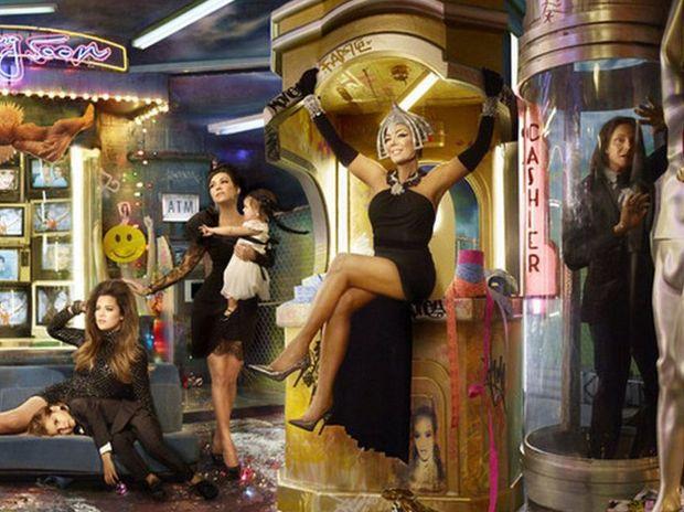 David LaChapelle's Kardashians card
