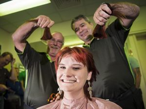 Women shave hair to raise funds for Leukaemia Foundation