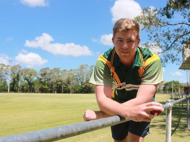 Gracemere paceman Ben Milne has earned selection in the 2014 Queensland Country cricket team. Photo Guy Williams / Morning Bulletin