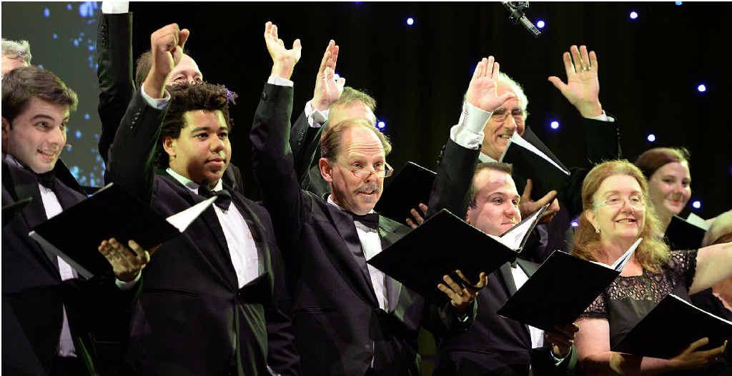 AUDIENCE PLEASER: The Queensland Festival Chorus entertains seniors at the Civic Centre.