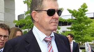 DECISION DAY: Peter Slipper leaves the Canberra Magistrates Court.