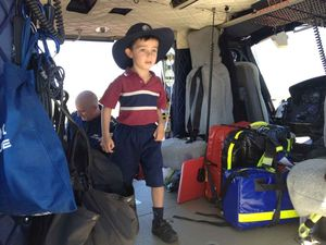 CareFlight touches down at brave Paddy's school