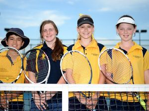 Young tennis players mixing with all the stars in Brisbane