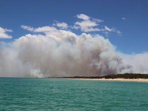 Fire burning on Fraser Island not posing a threat