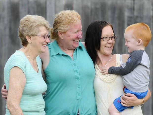 UNCONVINCED: Carol Lynn, Rhonda Hurst, Mailee Hurst and Kayleb Adams discuss the age pension and how it will impact them. Photo: JoJo Newby