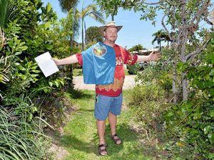 Gardening guru Costa supports Larry and his footpath garden
