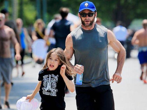 Hugh Jackman with his daughter Ava.