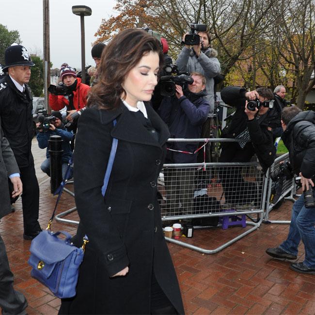 Nigella Lawson walking to court.