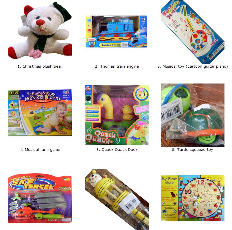Just a few of  of the toys taken off the shelves for Christmas 2014. The complete list is at www.fairtrading.qld.gov.au