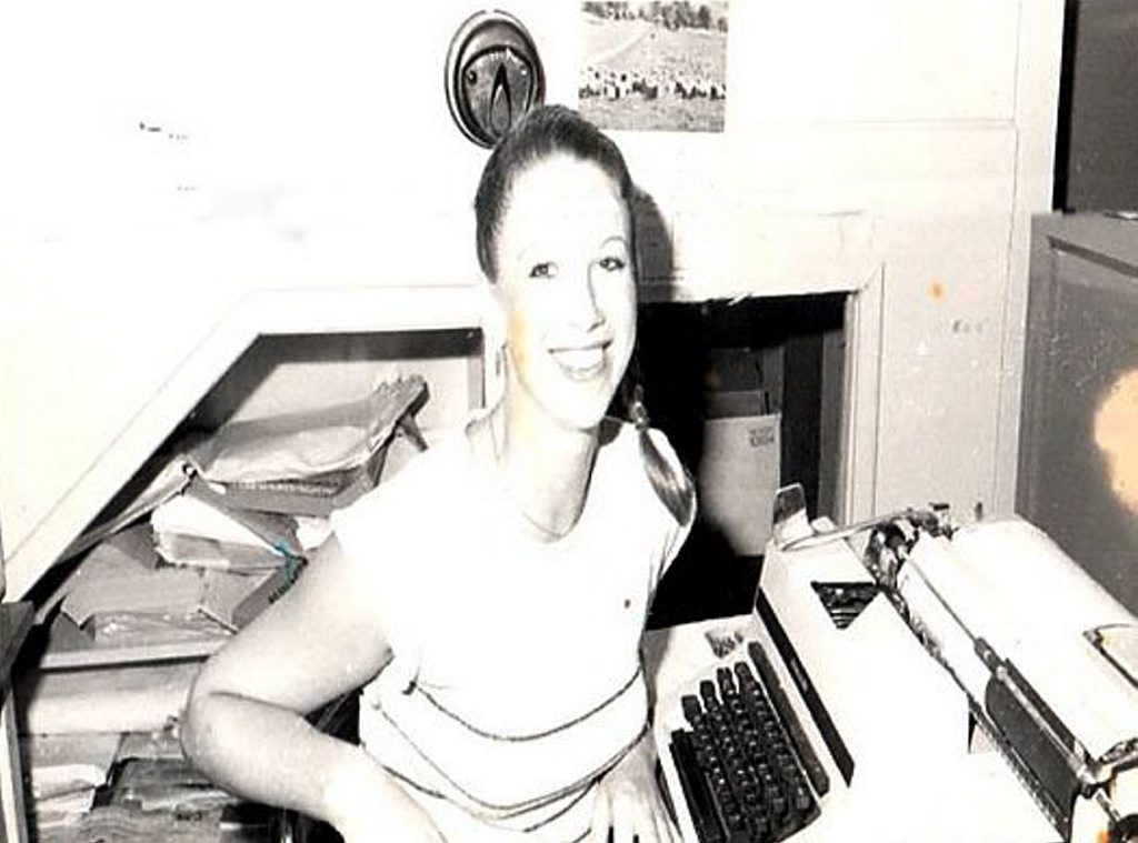 Former QT journalist and sexpert Tracey Cox at her desk at the QT. Photo: Contributed