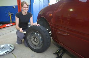 Changing a tyre is one of life's basic skills every driver must learn.