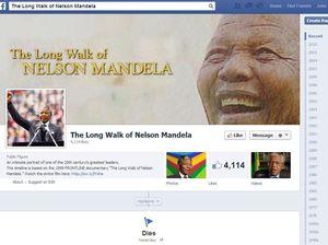Facebook timeline tribute to amazing Mandela