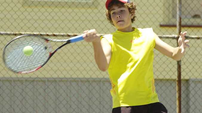 Jacob Hegedus won the under-16 boys singles final at the Casino AMT tournament.