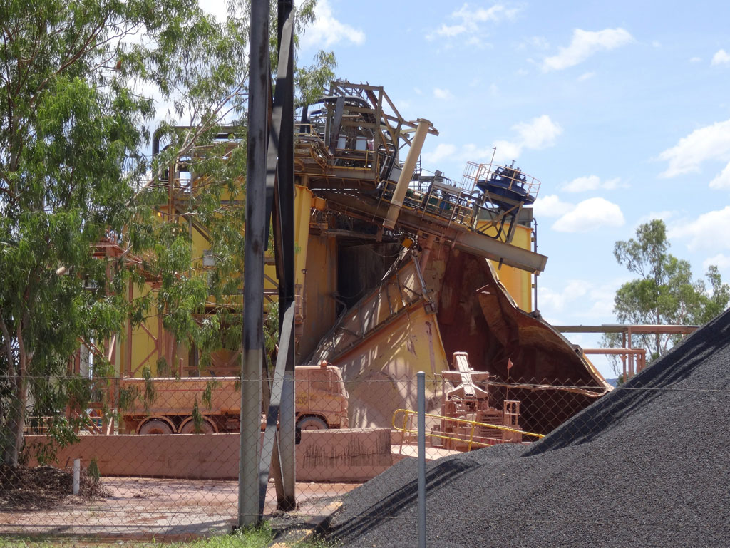 A picture made available by the Gundjeihmi Aboriginal Corporation (GAC) shows a collapsed leaching tank at the Ranger Uranium Mine in Kakadu National Park, Northern Territory, Australia, 07 December 2013. According to media reports, the leaching tank may have spilled out about a million liter of acidic slurry. Workers evacuated and the production shut down. According to the Energy Resources of Aus
