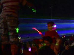 Laser show at Cotton Tree Carols