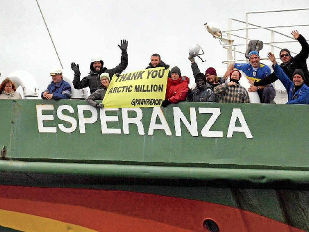 PROTEST: Greenpeace ship MY Esperanza.